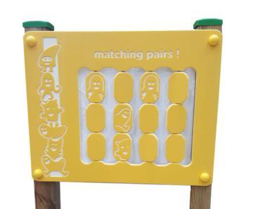 Paneles de juego de exterior encuentra las parejas, paneles de juego, juegos inclusivos, juegos adaptados, panel de juego, paneles de juego para escuelas, kbt, masgames, molderdisnova, juegos para escuelas, paneles de juego de exterior,