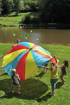 paracaídas, paracaidas de exterior, juegos gigantes, juegos de exterior, masgames, masgames active toys, juegos para el jardín