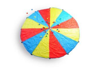 paracaídas, paracaidas de exterior, juegos gigantes, juegos de exterior, masgames, masgames active toys, juegos para el jardín, gincana, gimcana, ginkana. gimkana, yinkana, team building, juego team building,