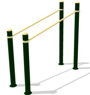 norten, baloiços esportivos, aparatos esportivo ar livre, aparatos esporte exterior, maiores, calistenia, calistenia street workout, street fitness, crossfit, crossfit street workout, paralelo inclinado, calistenia NT74PI