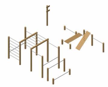 Calistenia workout madera robinia Yukon