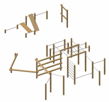 Combinación de crossfit workout madera robinia Alaska