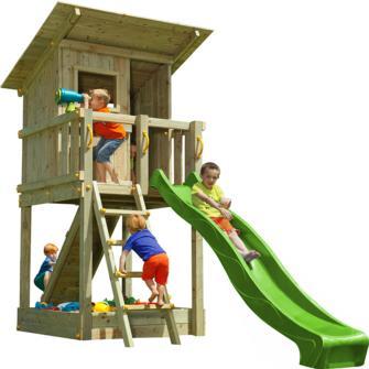 Parque infantil con casita y tobogán Beach Hut