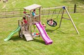 Parque infantil Torre Cascade con columpio doble
