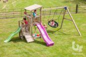Parc infantil Cascade amb gronxador doble