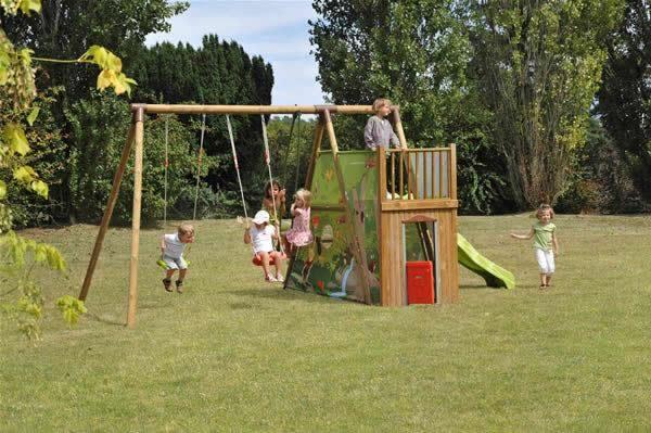parques infantiles columpios soulet parques infantiles de jardn columpio tobogan