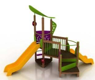parque infantil populus II, parque infantil con tobogan, juegos de exterior, parques infantiles uso comercial, parques infantiles uso público, juegos de exterior