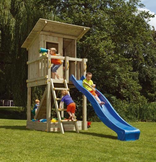 Parque infantil de madera beach hut for Casitas de jardin infantiles