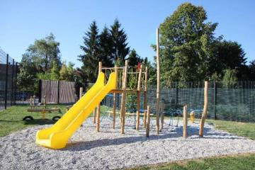 Parque infantil de madera Barco Vikingo