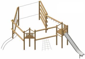 Parques infantiles de madera natural de robinia IRATI
