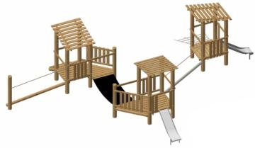 Parque infantil de madera natural de robinia Maribor