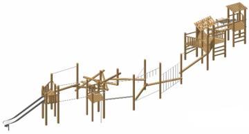 Parques infantiles de madera natural de robinia ORIO