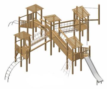 Parque infantil madera natural robinia Muret