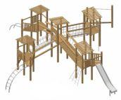 Parque infantil madera natural Muret