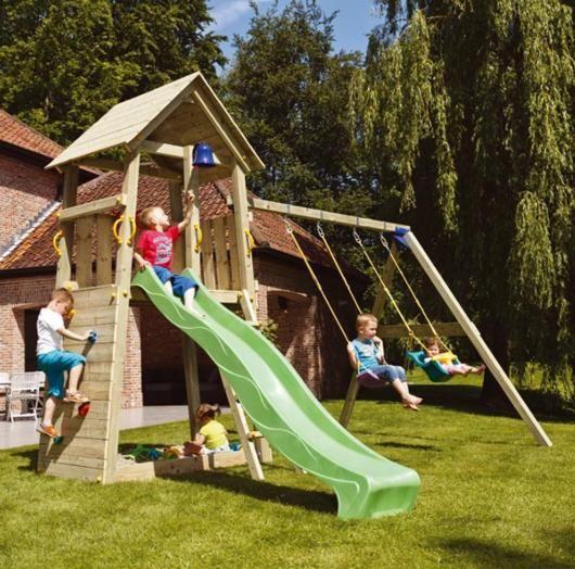 Parque infantil belvedere con columpios - Parque infantil casa ...
