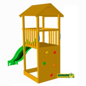 Parque infantil Canigó, parques infantiles, parques infantiles de jardín, columpios, columpios de madera, columpios de jardín, blue rabbit, masgames, toboganes, paredes de escalada, estructuras de juego de exterior,