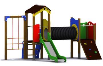 Parque infantil Nantes es bonito y muy completo, tiene trepador, tobogan, red de escalar...
