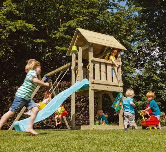 Parque infantil torre kiosk con columpios - Columpios para jardin ...