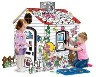 pinta tu casita, smoby, casita de interior, casita de cartrón
