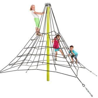pirámide de cuerdas, piramide de cuerda, kbt, blue rabbit, masgames, trepadores, parques infantiles, redes de trepa