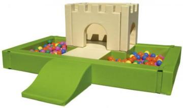 piscina de bolas blanda castillo