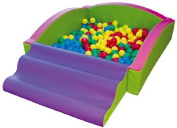 piscina de bolas con rampa y blanda