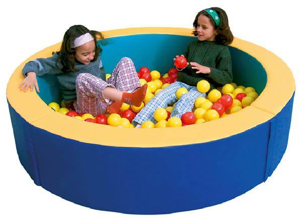 Piscinas de bolas circulares acolchoado for Piscina de bolas minibe