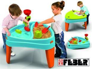 feber play island, feber, mesas de exterior, feber, areneros, juegos de agua,