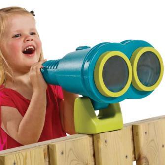 prismáticos grandes infantiles, prismáticos parque infantil, accesorios parque infantil, columpios, tobogán, parque infantil