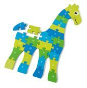 puzzle de madeira girafa