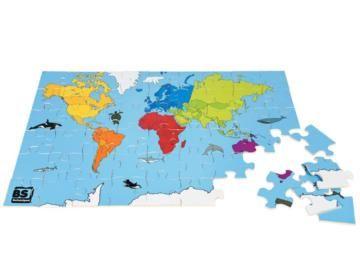 world puzzle, puzzle infantil, puzzle de madera, buiten speel, juegos de jardín, masgames