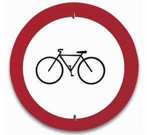 Señal de entrada prohibida a bicicletas