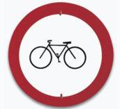Sinal de proibido a entrada de bicicletas