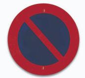 Sinal de estacionamento proibido