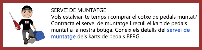 servei muntatge karts pedals BERG