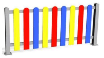 Valla metálica Colores Lama PEHD