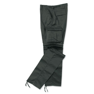 SURPLUS KOMBI ZIPP-OFF TROUSER BLACK / Pantalón Largo Talla M