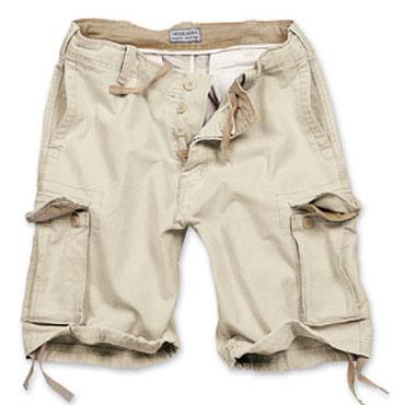 SURPLUS Vintage shorts Beige Washed / Pantalones cortos ropa militar