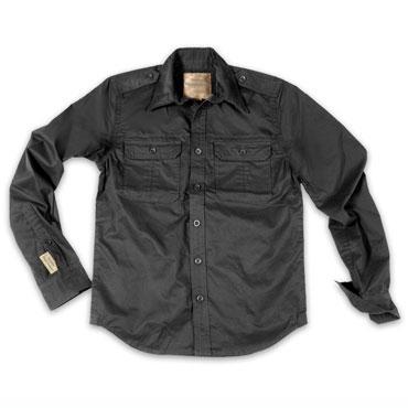 SURPLUS 1/1 Plain Summer Shirt / Camisa Negra Manga Larga