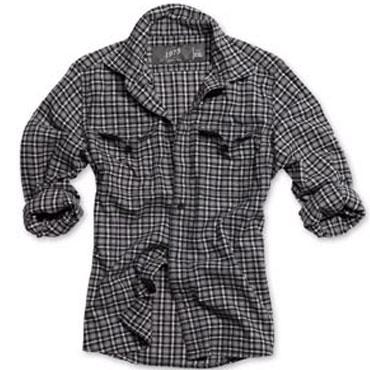 SURPLUS Wood Cutter Shirt black karo / Camisa black karo