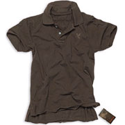 SURPLUS Destroyed Polo brown / Polo marron Talla L