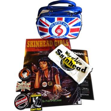 PACK SKINHEAD GIRL 1 Bolso+Camiseta+Posters+Pegatinas+Chapas/ Pack Oferta