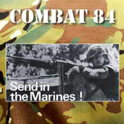 COMBAT 84 Send in the marines CD cover artwork with camou background