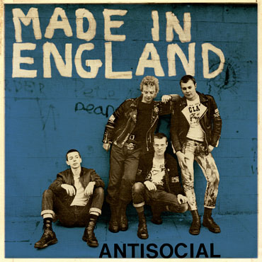 ANTISOCIAL Made in England blue cover