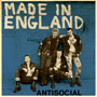 ANTISOCIAL Made in England on blue cover