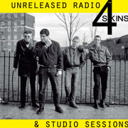 Diseño de la portada de 4 SKINS Unreleased Radio & Studio Sessions LP