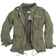 SURPLUS M65 JACKET REGIMENT Olive Washed / Chaqueta