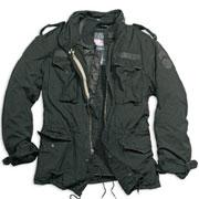 SURPLUS M65 JACKET REGIMENT Black Washed / Chaqueta Negra