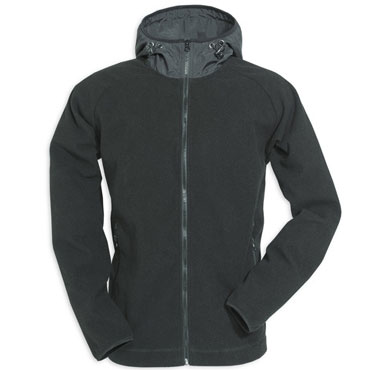 Fleece Hoodie Zipper Black / Polar Negro