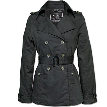 LADIES LUXURY COAT Black / Chaqueta Chica Negra Size L